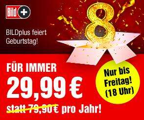 BILDplus Jahresabo für dauerhaft 29,99 €