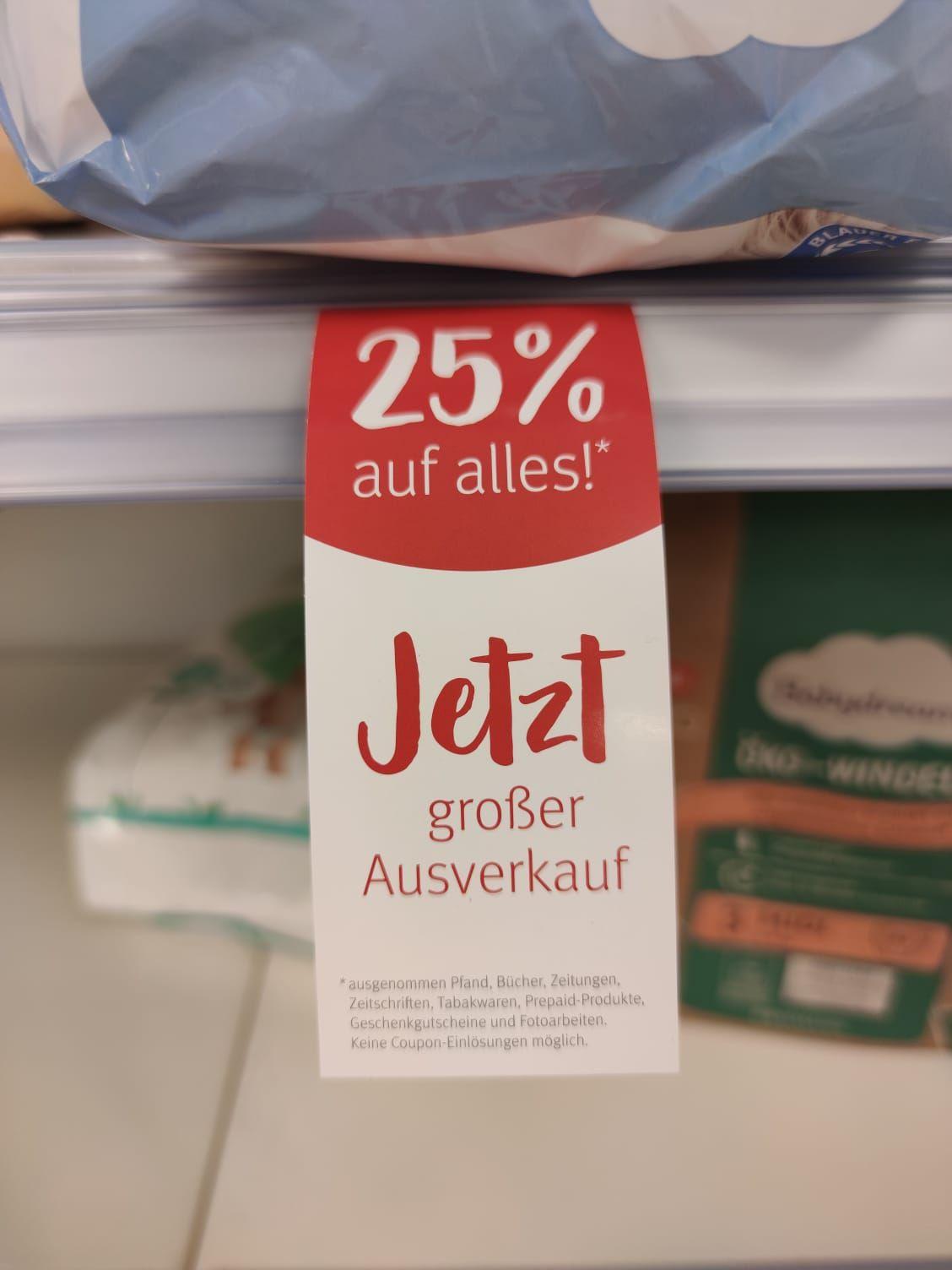 Lokal WOB: Ausverkauf auf Alles bei Rossmann in Nordsteimke