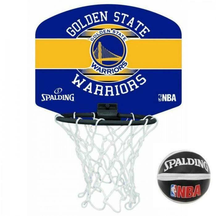 Spalding NBA Miniboard Basketballkorb Golden State Warriors, Größe: 29 cm x 24 cm,inkl. Soft-Miniball in Größe 1 [Amazon Prime]