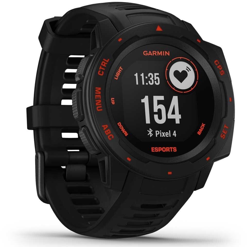Garmin Instinct Esports Smartwatch (128x128 MIP-Display, GPS, ANT+, Bluetooth, Herzfrequenz, 16h bis 14d Akku, Streaming-Overlay, 10ATM)