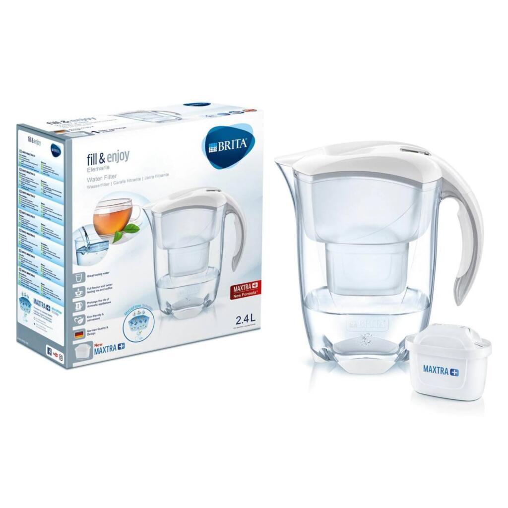 Brita 076412 Elemaris Cool White Maxtra Wasserfilter & MAXTRA+ Kartusche