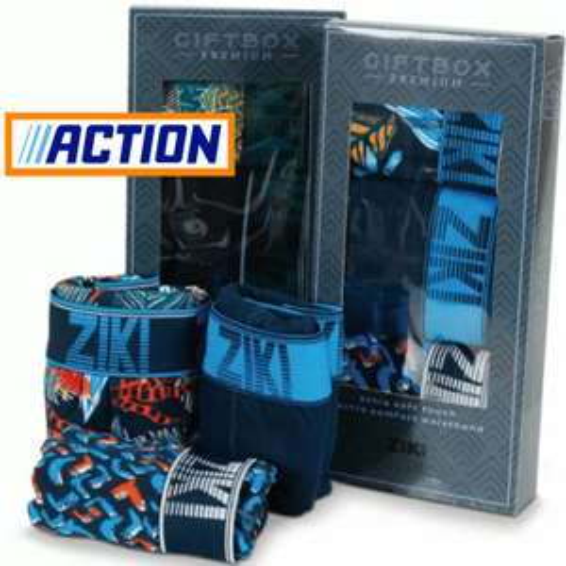 ZiKi Premium Boxershorts (S-XXL) 3er Pack in Geschenkbox (je 1,66€) oder Kappa (je 2,58€)