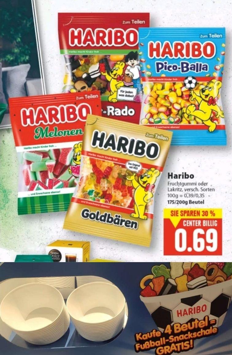 [Edeka Center Minden-Hannover evtl. nur Lokal] 4x Haribo Fruchtgummi (Angebot für 0,69€) + Fußball Snackschale gratis dazu