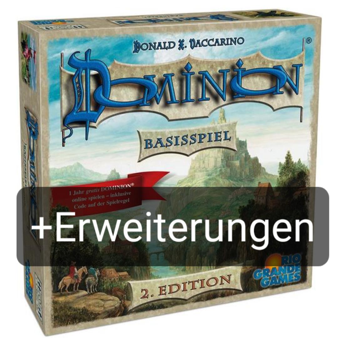 Diverse Dominion Erweiterungen | Brettspiel | Kartenspiel | Dark Ages | Menagerie | Renaissance