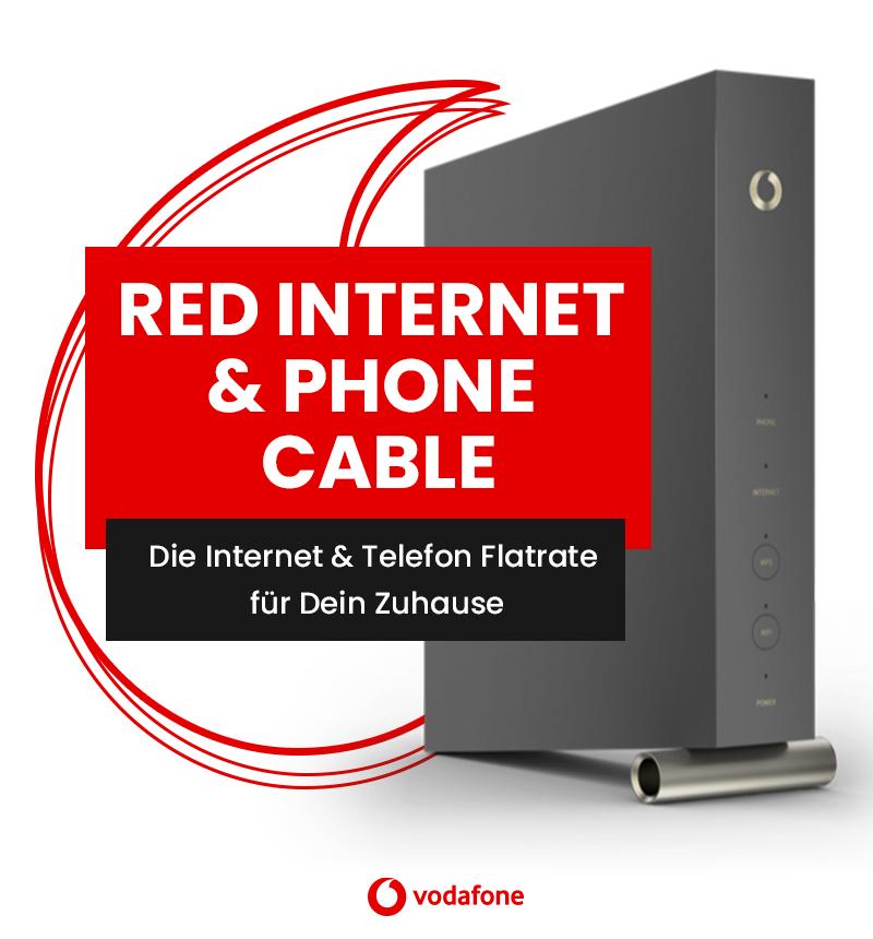Vodafone Red Internet & Phone 1000 Cable (1000 Mbit/s) für eff. mtl. 28,95€ durch 225€ Cashback & 100€ Online-Vorteil