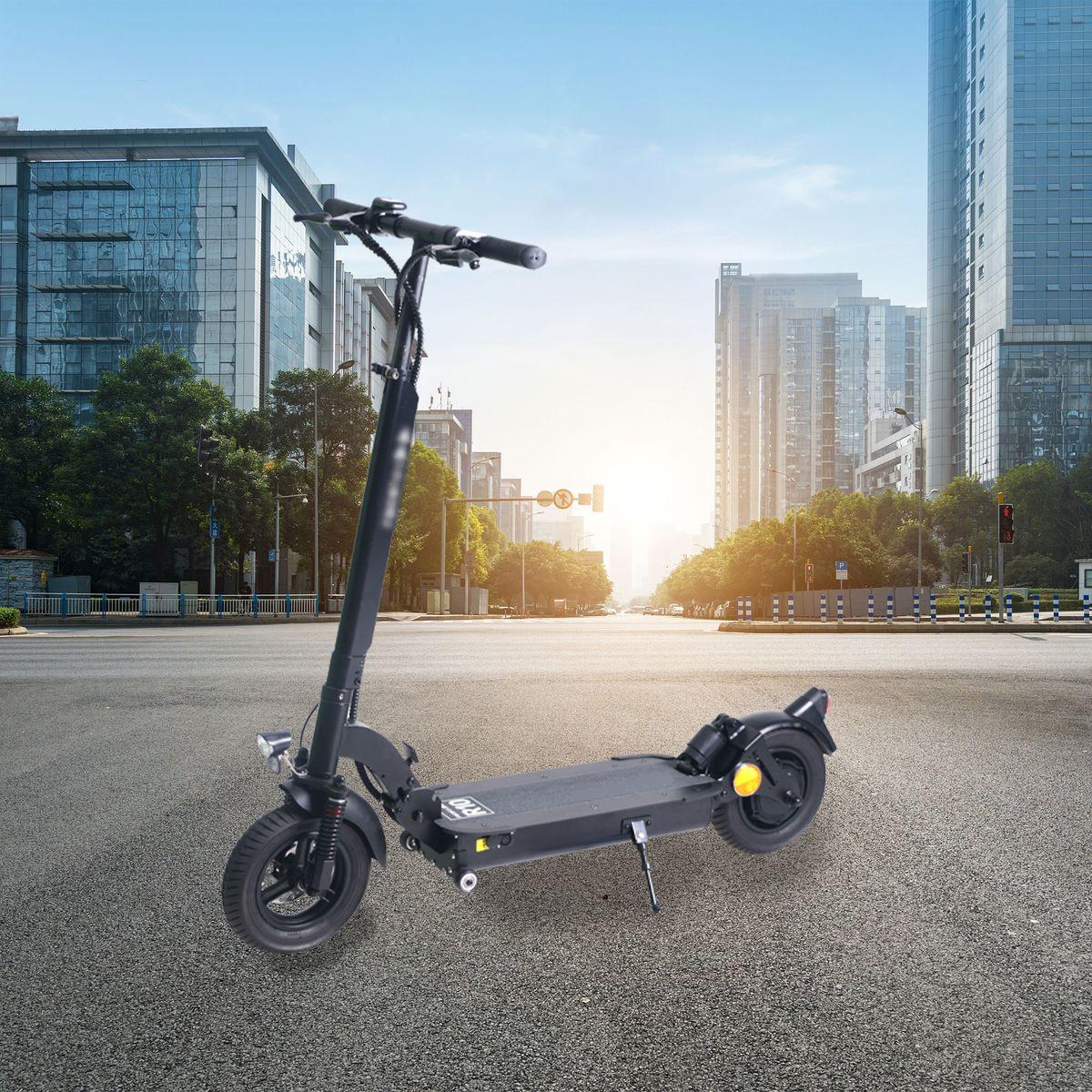 E-Scooter R10 mit Straßenzulassung (Reichweite bis 50 km, Scheibenbremsen, 10″ Luftreifen) für 599€