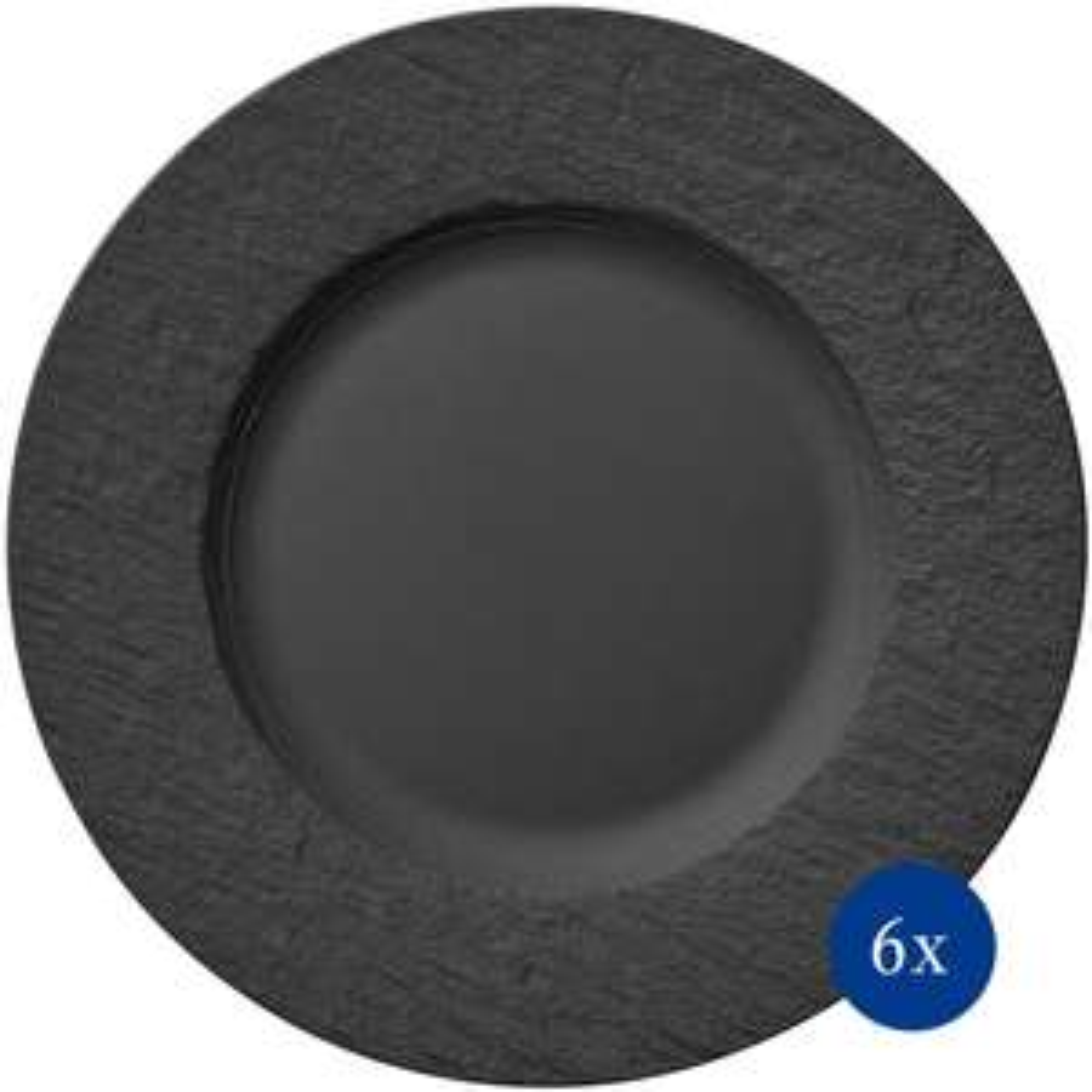 Villeroy & Boch 6-teiliges Speiseteller-Set Manufacture Rock (Porzellan, 27 cm) [DEALCLUB]