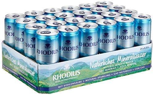 Amazon Prime: 24 Dosen Rhodius Mineralwasser aus der Vulkaneifel , jede Dose hat 330ml Inhalt
