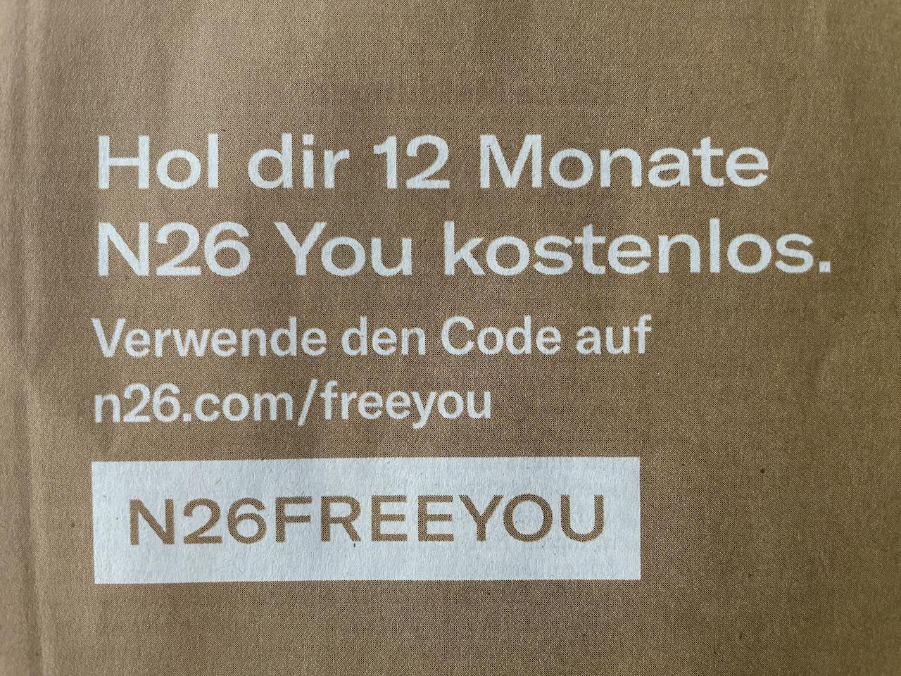 N26 : Ein Jahr N26 You kostenlos (Ersparnis 118,80 Euro) Neukunden