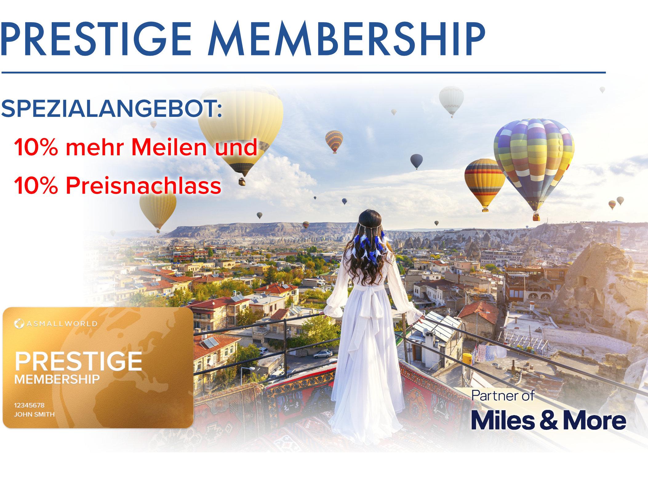 ASMALLWORLD Prestige Membership 275t Miles & More Prämienmeilen 4680€
