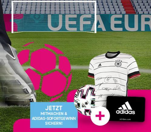 30% Adidas Gutschein für Telekom Gewinnspiel-Teilnahme
