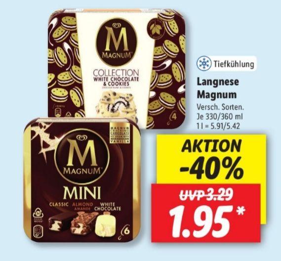 Langnese Magnum 1,95€ statt 3,29€ UND Langnese Cremissimo 1,89€ statt 3,49€ Lidl ab 14.06