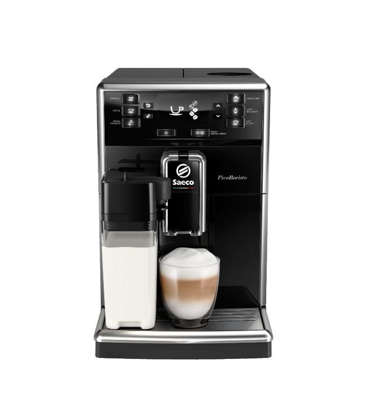 Amazon: Saeco PicoBaristo SM5460/10 - Kaffeevollautomat - 10 Kaffeespezialitäten (integriertes Milchsystem) - Schwarz