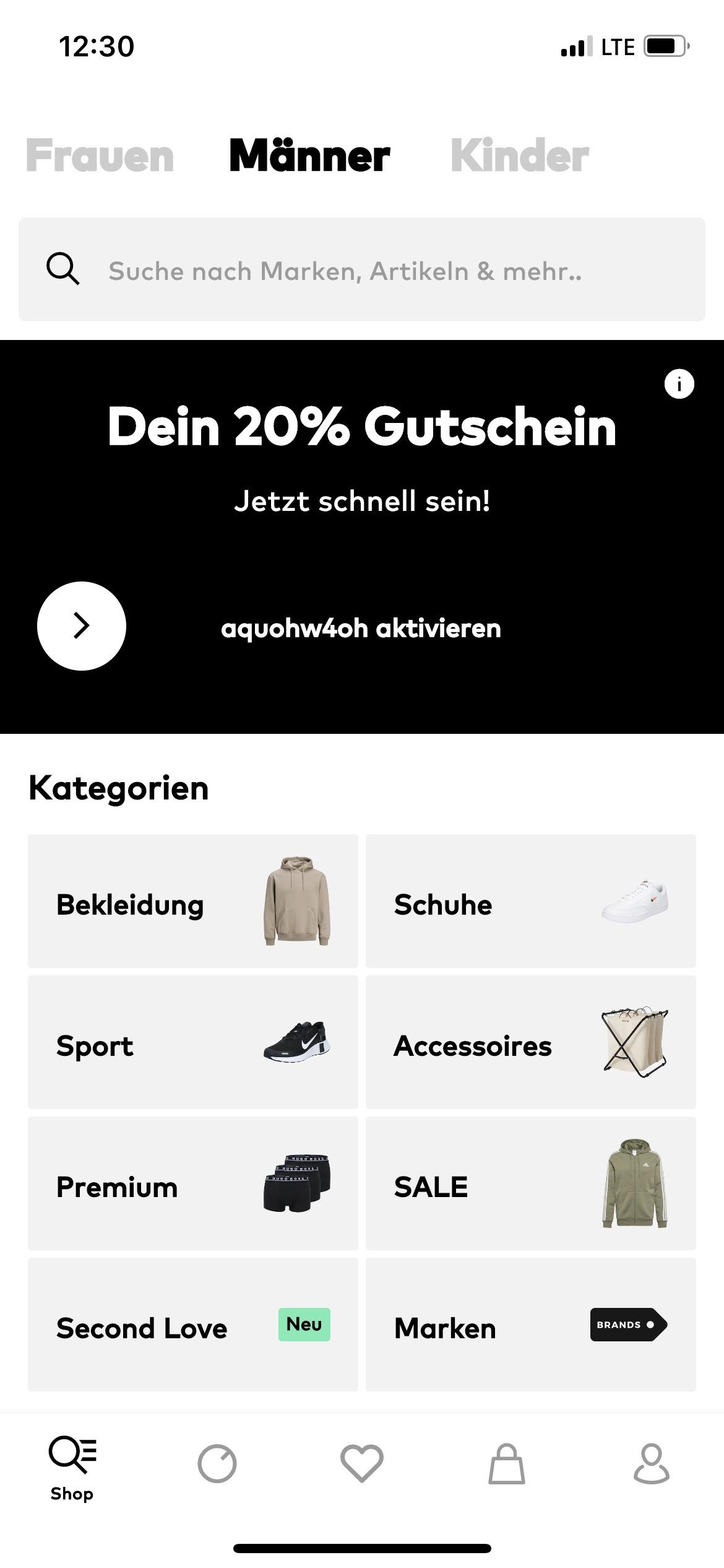 20% Gutschein bei About You in der App!