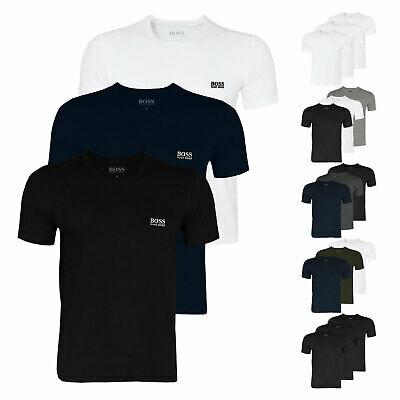 3er Pack HUGO BOSS Herren T-Shirts Shirt kurzarm Crew-Neck V-Neck Gr. S - 2XL