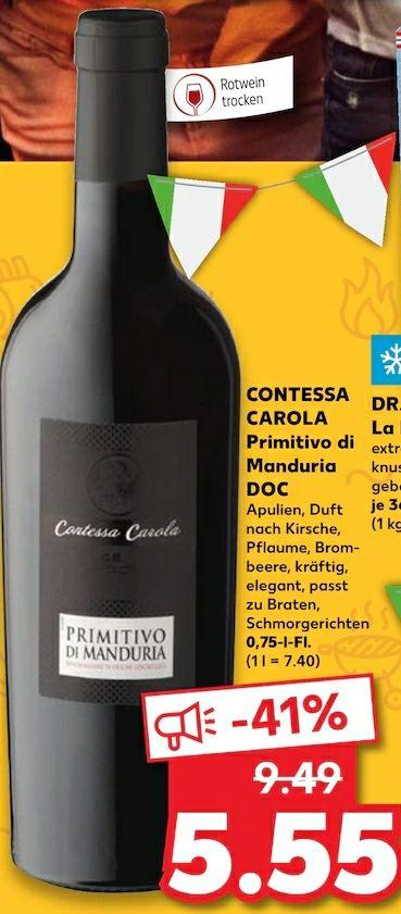 Contessa Carola Primitivo di Manduria 0,75l [Kaufland]