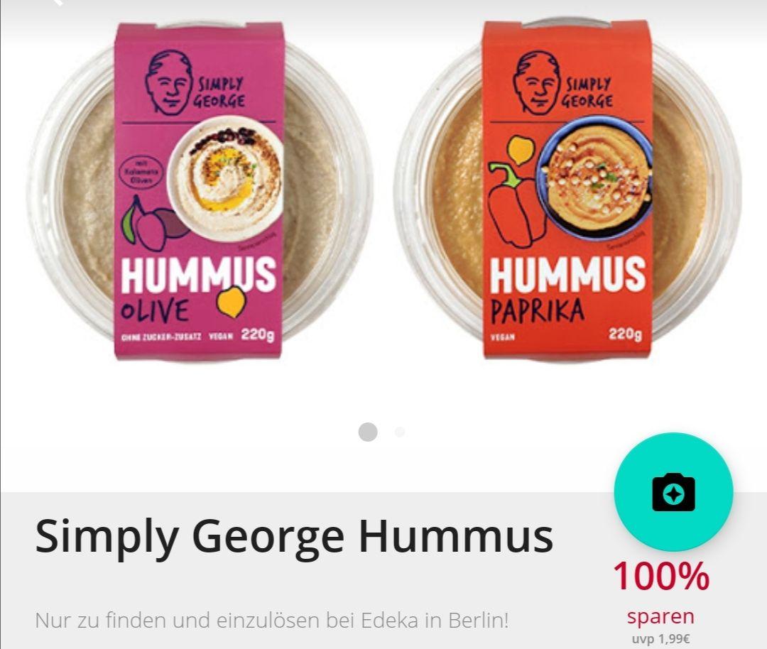 Lokal Berlin Simply George Hummus bei Scondoo (Kauf bei Edeka)