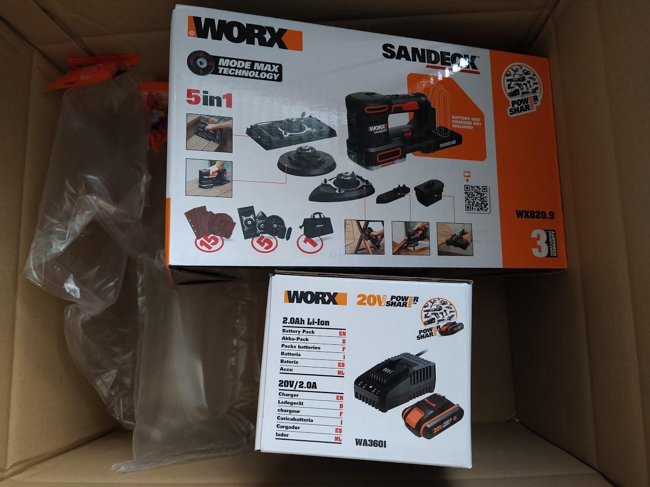 WORX WX820 Multischleifer mit Akku und Ladegerät