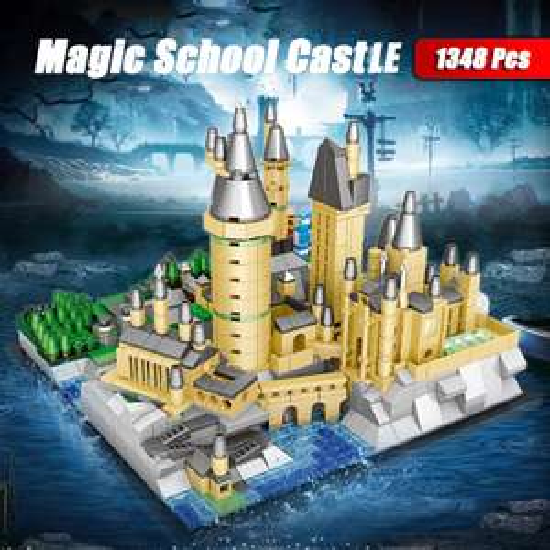 "Magic School Casle - 1348 Klemmbausteine (""Mini Hogwarts"") [AliExpress]"
