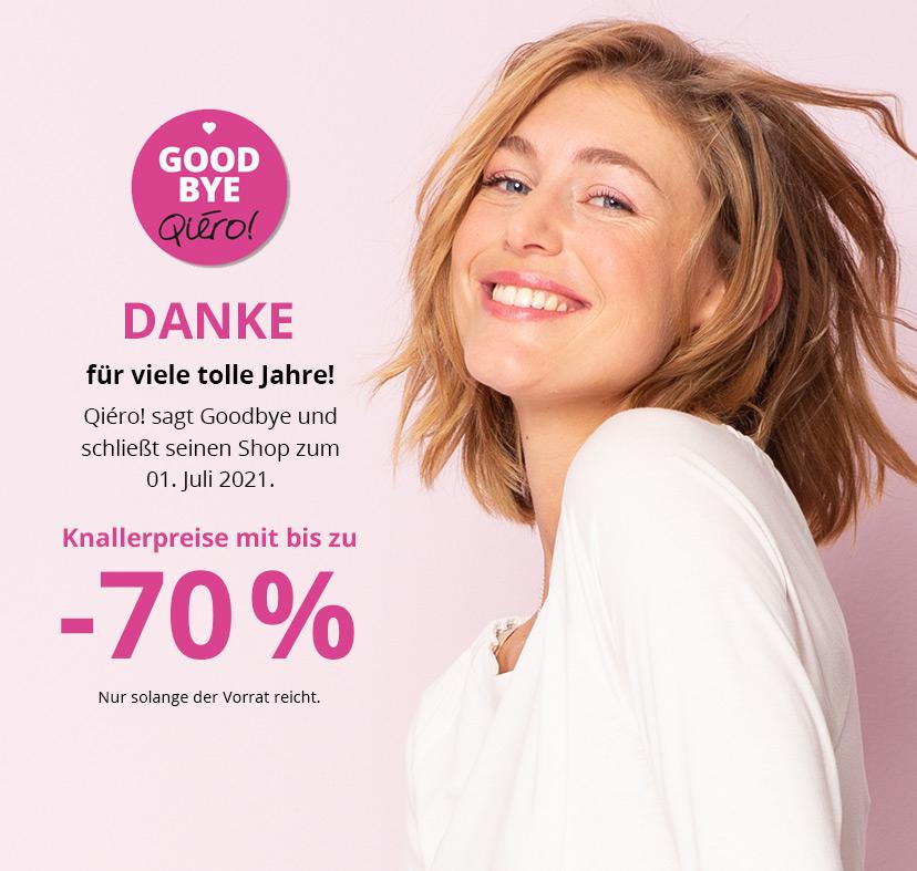 Qiero Online-Shop schließt, bis 70% Rabatt, Damenmode, Deko, Accessoires usw...