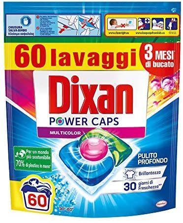 [Amazon IT] Dixan PowerCaps (60 Wäschen, Farbig) zum Bestpreis