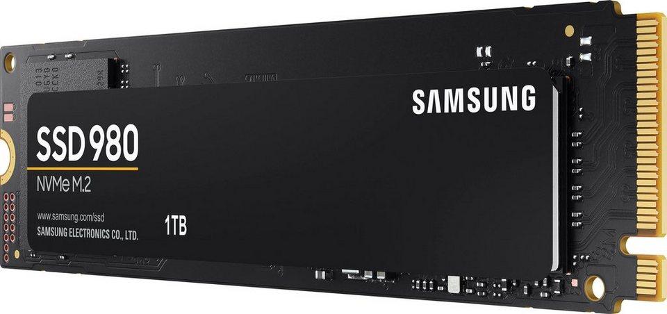 Samsung »SSD 980« interne SSD (1 TB) 3500 MB/S Lesegeschwindigkeit, 3000 MB/S Schreibgeschwindigkeit, NVMe) - Schnapper für Neukunden