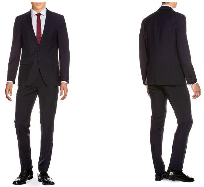 Strellson Anzug, Reverskragen, Regular / Slim Fit - 100% Schurwolle (Größen 24 bis 106)