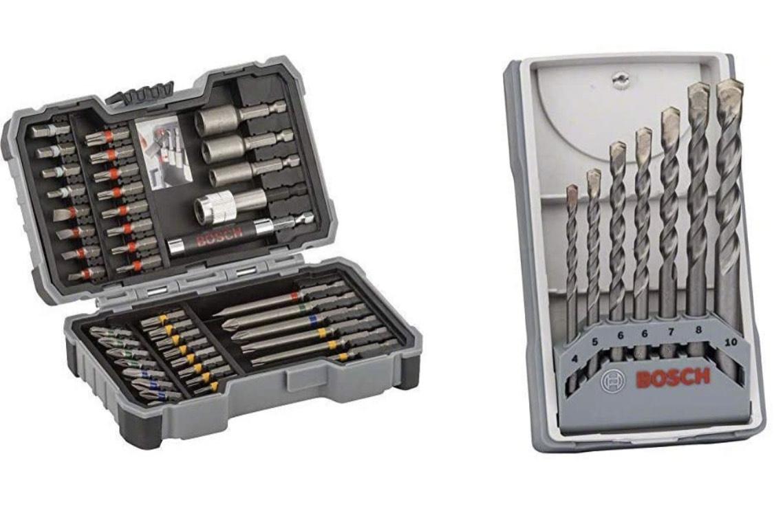 Bosch Professional 43tlg. Schrauber Bit Set & Professional 7tlg. Betonbohrer Set