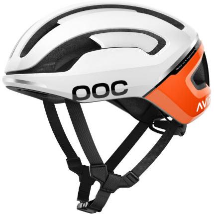POC Omne Air Spin // Radhelm - Weiß/Orange - Größen S, M