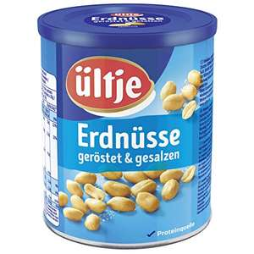 Amazon Sparabo: 5x 500 Gramm Ültje gesalzene Erdnüsse in der XL Dose, gesamt= 2,5 kg Erdnüsse, Kilopreis: 5,60 €