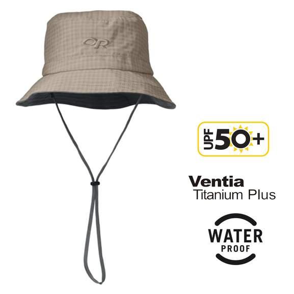 Outdoor Research - Lightstorm Bucket Wasserdichter atmungsaktiver Ventia™ Regenhut / Sonnenhut (UPF 50+) in Gr. S
