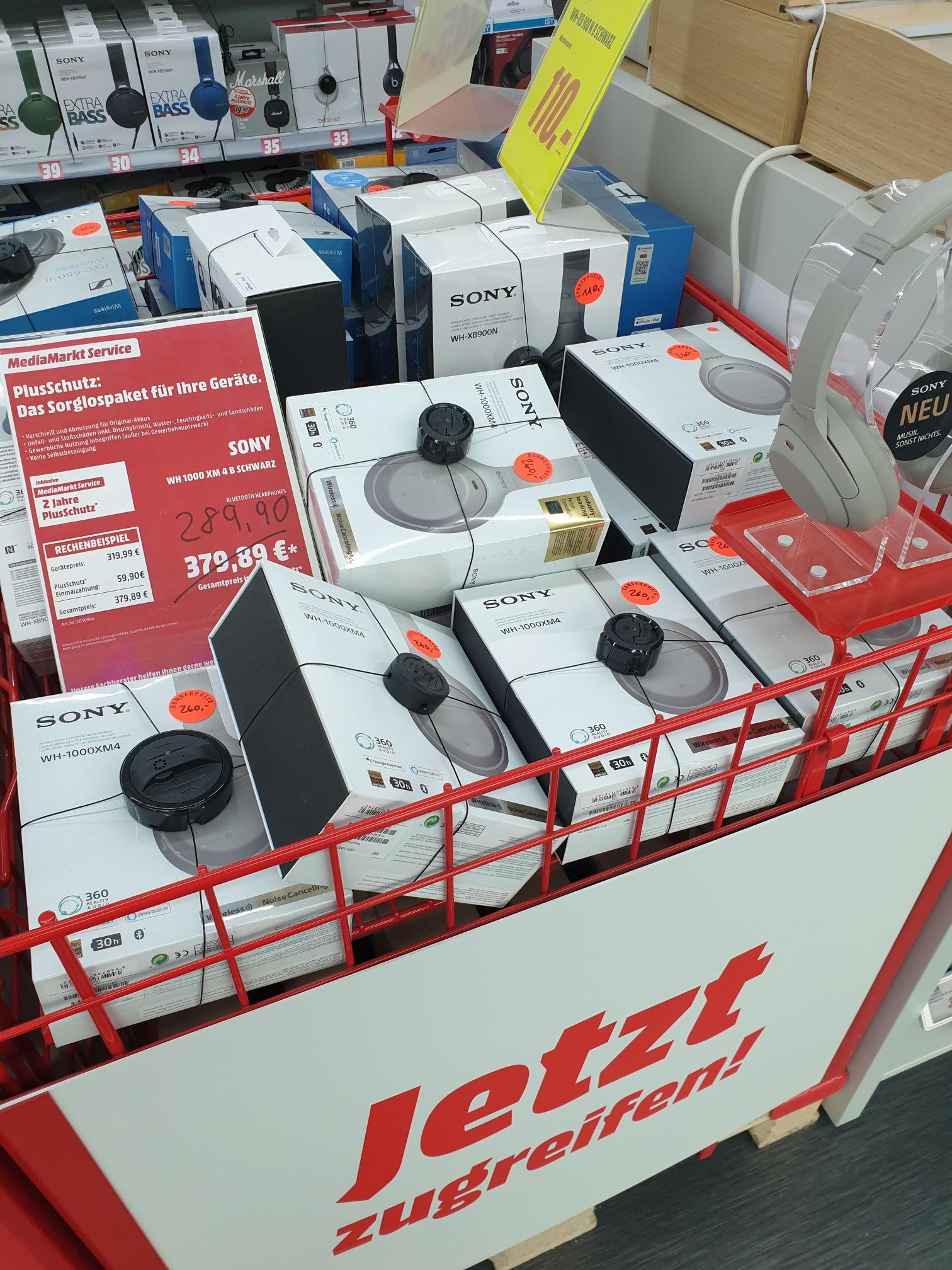[LOKAL Hamburg] Mediamarkt Nedderfeld Sony WH-1000XM4 für 260€