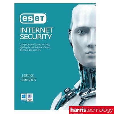 Eset Internet Security, 1 Jahr, 3 Devices, MULTIDEVICE