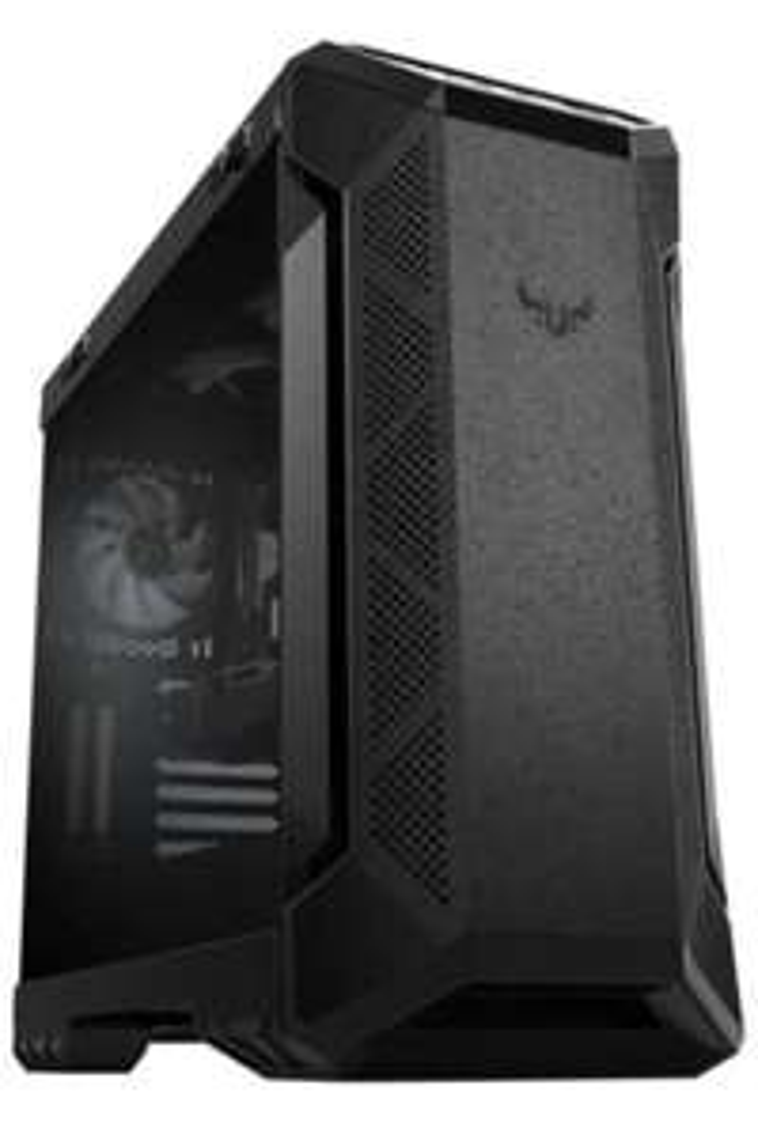ASUS TUF GT501 Gaming Gehäuse (bis zu E-ATX, 120mm RGB-Lüfter, 140mm PWM-Lüfter, USB 3.1 Gen 1) schwarz