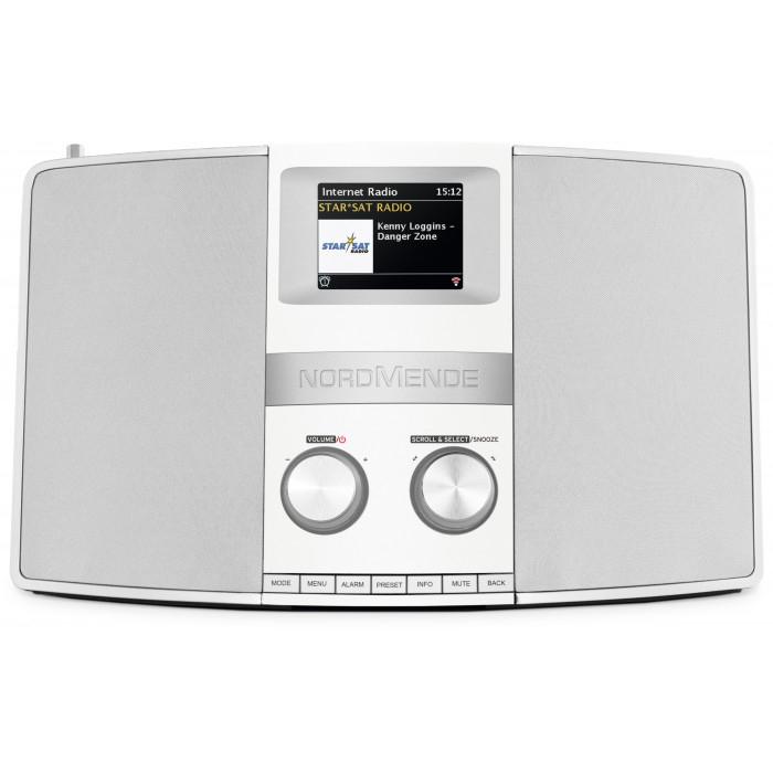"Nordmende Transita 400 weiss / silber ( DAB+, UKW-Radio, Integrierte WLAN, Spotify, 3,2"" TFT-Farbdisplay Bluetooth-Audiostreaming )"