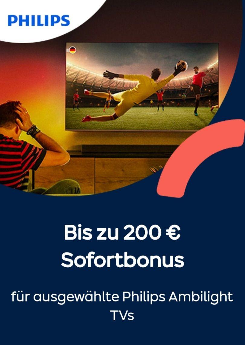 ao bis zu 200 Euro Sofortbonus für ausgewählte Philips Ambiligh TVs
