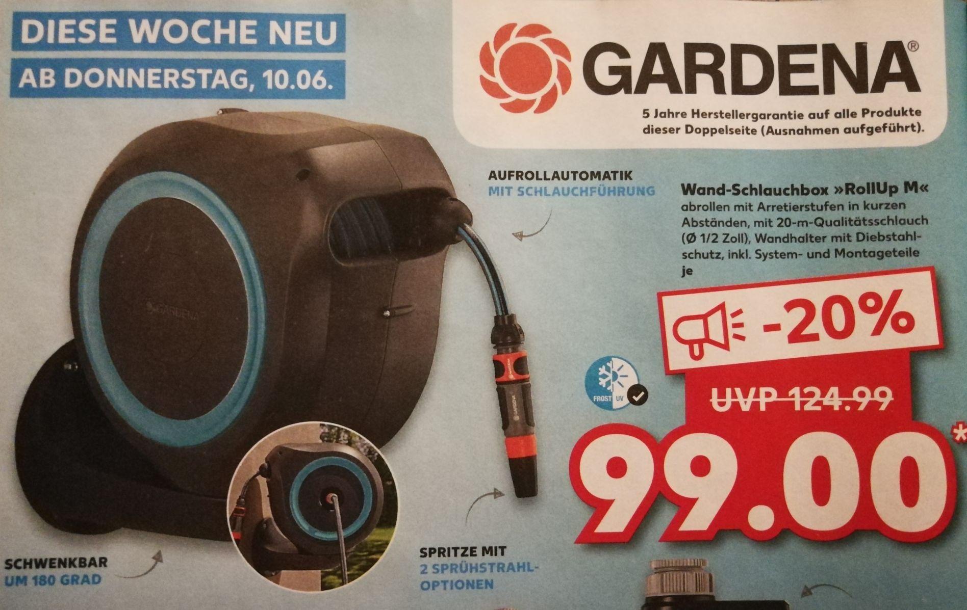 """[TPG] Gardena Wand-Schlauchbox RollUp M 20m 1/2"""" Schlauch & Spritze"""