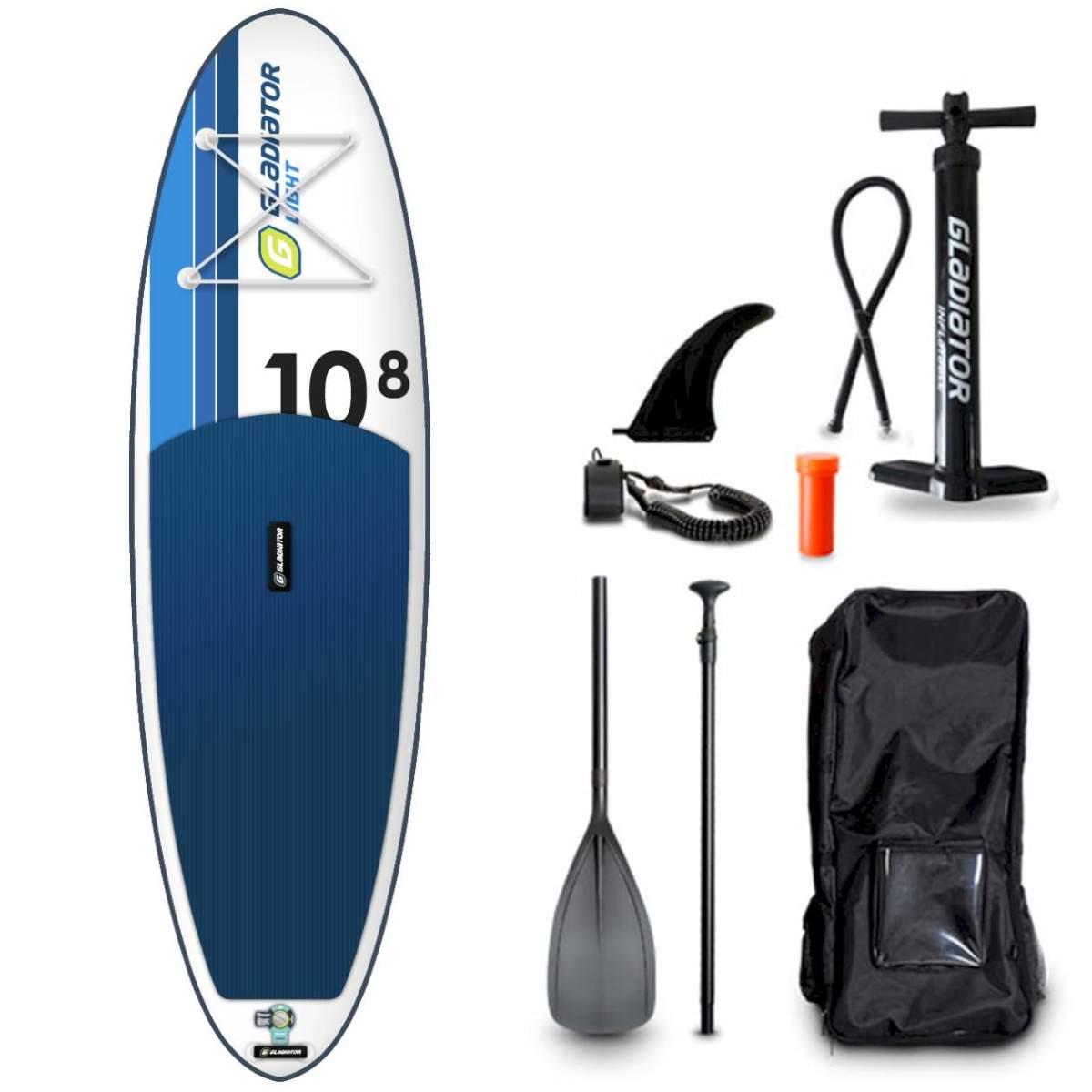 "[ 3s-Sup.de ] Gladiator LT 10'8"" x 34"" SUP Board Set 2021 + hochwertigen Waterproof Bag"