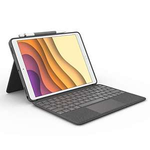 [Amazon] Logitech Combo Touch für iPad Air (3. Gen) A2152, A2123, A2153, A2154, iPad Pro 10,5 Zoll A1701, A1709, A1852, Smart-Connector