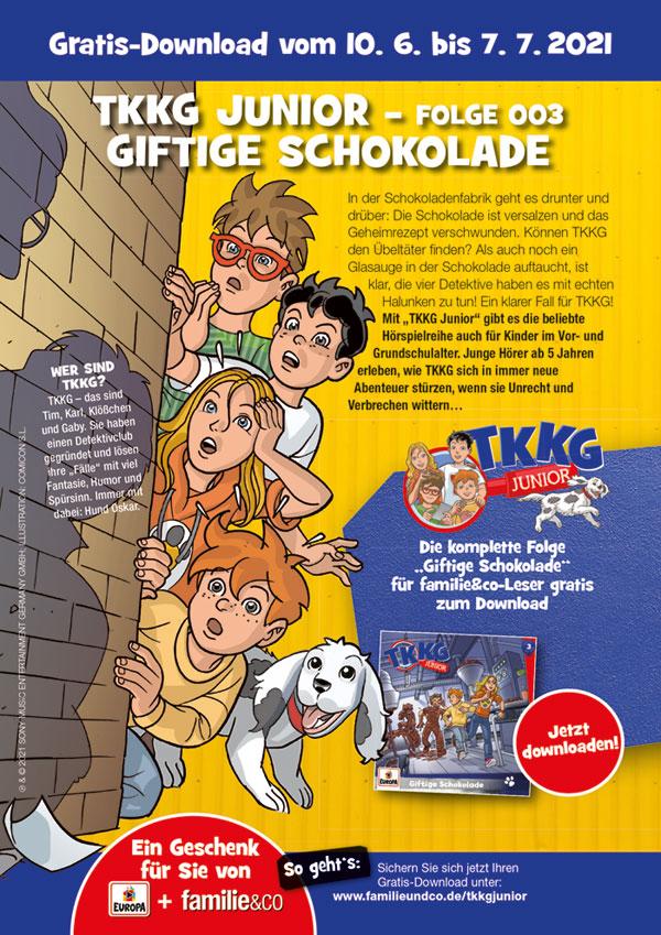 Hörspiel: TKKG Junior - Giftige Schokolade