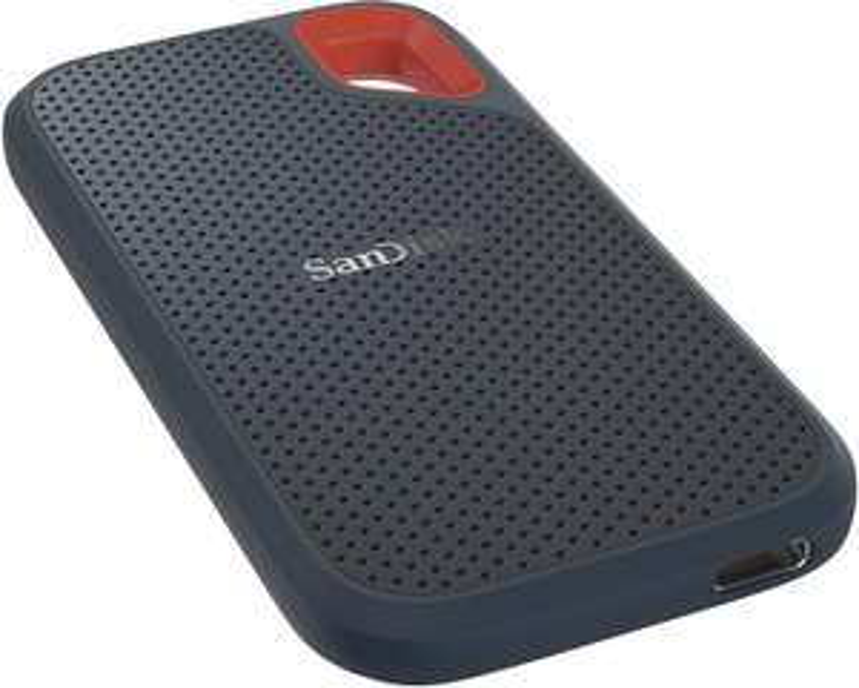 SanDisk Extreme Portable SSD 2TB (~560MB/s Lesen & ~520MB/s Schreiben, USB-C 3.1 Gen2 + USB-A-Adapter, intern SATA, IP55, 3J Garantie)