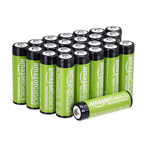 [Amazon Prime] Amazon Basics AA-Batterien / Akkus, wiederaufladbar, 2000 mAh, 24 Stück [Amazon]