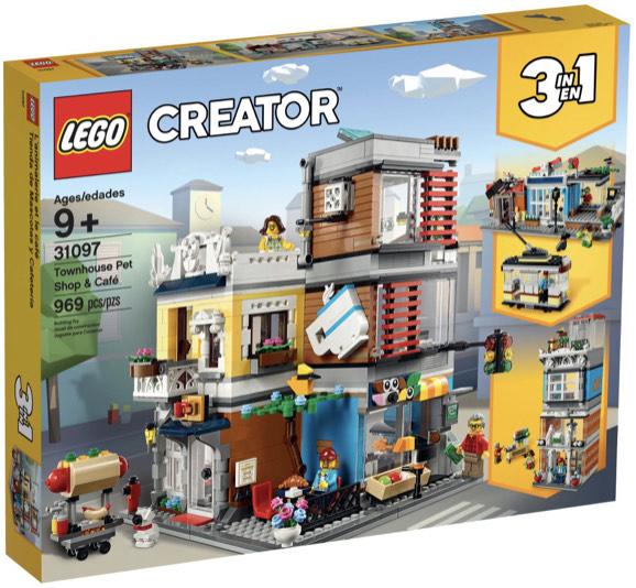 LEGO 31097 Creator 3-in-1 Set Stadthaus mit Zoohandlung & Café