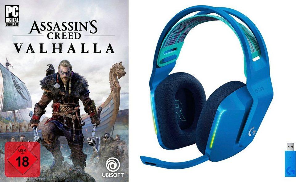 Logitech G733 blau + PC Assassin's Creed Valhalla
