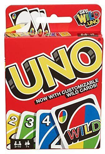 UNO Kartenspiel-Klassiker, Get Wild - Version, 2-10 Spieler, ab 7 Jahren [Amazon Prime]