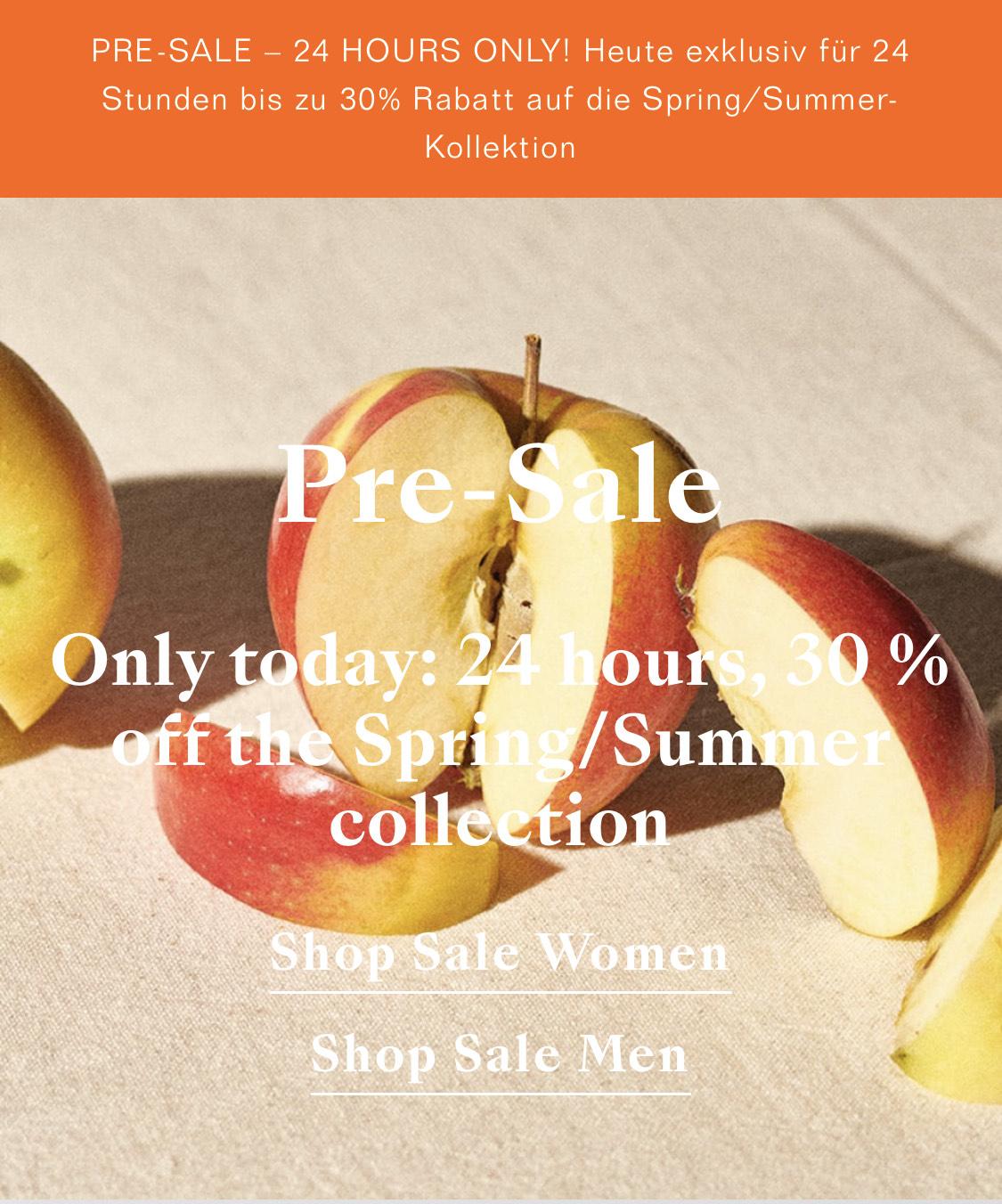 24H / 30% auf Closed Sommerkollektion