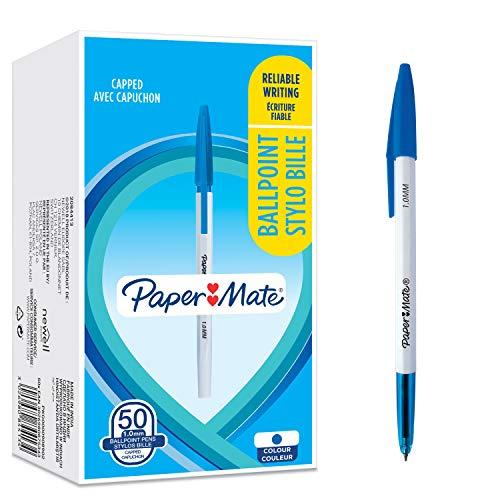 [prime] Paper Mate 045 Kugelschreiber mit feiner Spitze (0,7 mm) blaue Tinte 50 Stück / 0,07€ je Stk /Verkauf und Versand Amazon