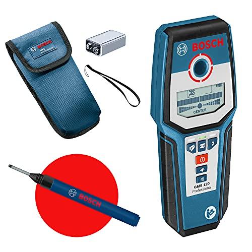 Bosch Professional digitales Ortungsgerät GMS 120 + Bohrlochmarker