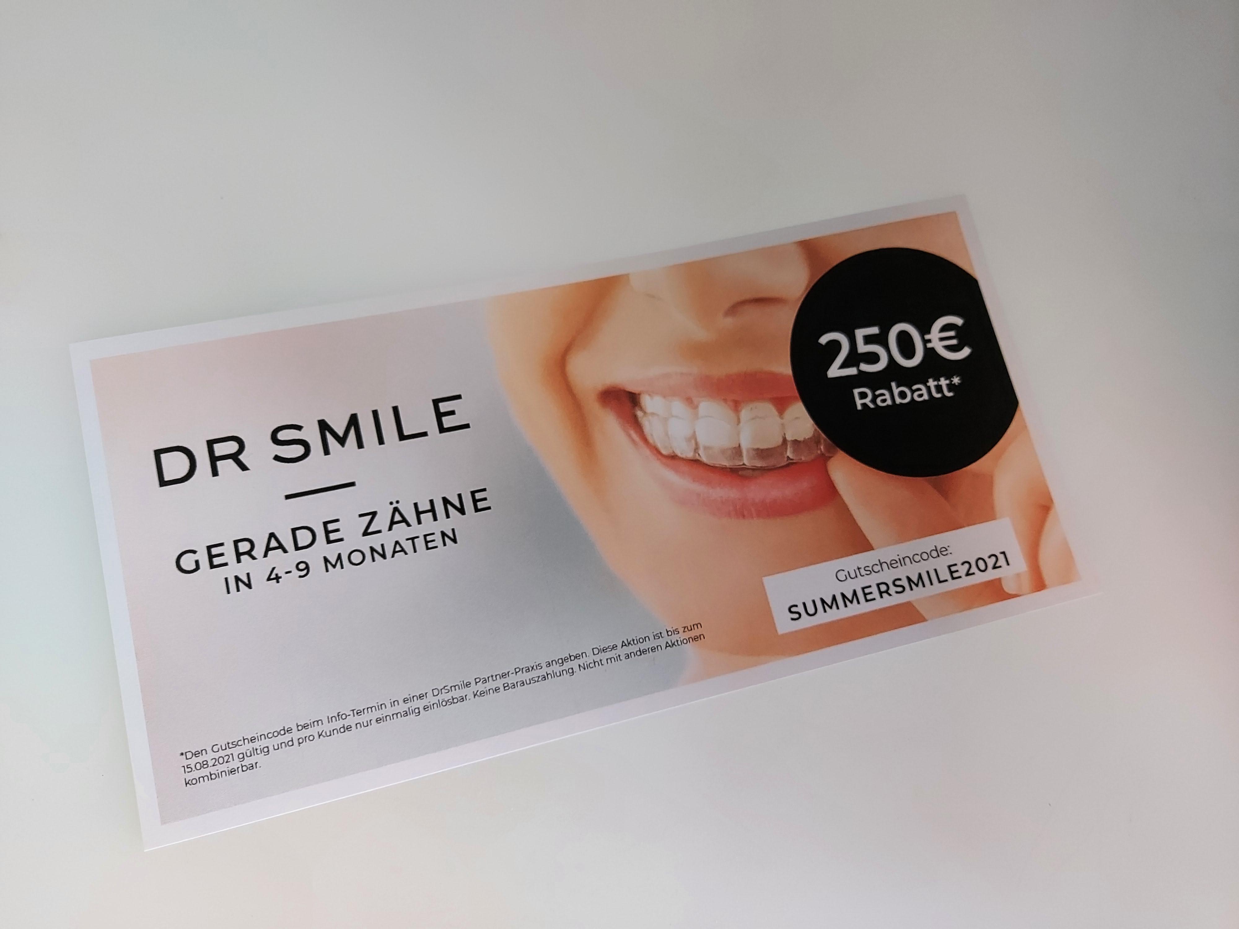 -250 Euro Gutschein für Dr.Smile (für Partner-Praxen)