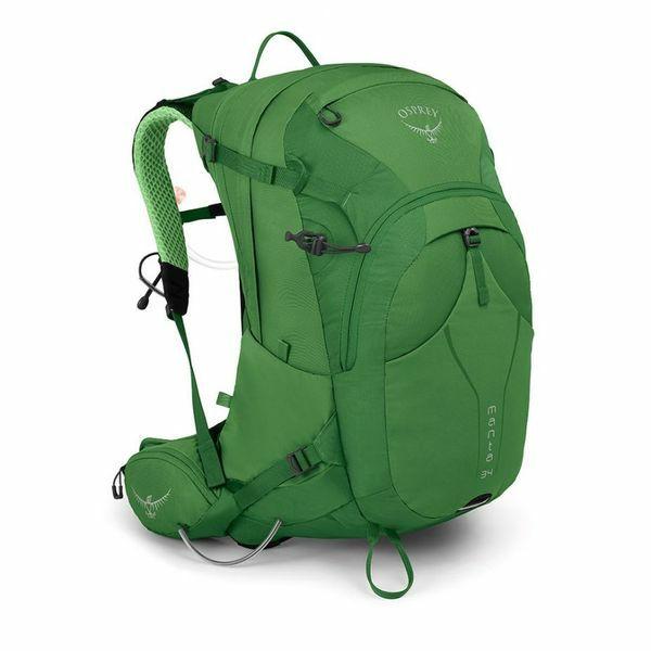 OSPREY Manta 34, Herren-Wanderrucksack 54 cm, Farbe Green Shade, 34 L inkl. 2,5 L Trinkblase und integr. Regenhülle [sporthaus.de]